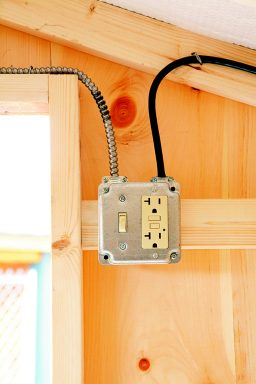 Electric Package Switch and Outlet Installed