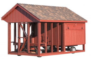 chicken coop accessories Heavy Duty Wheel System with Hydraulic Lift