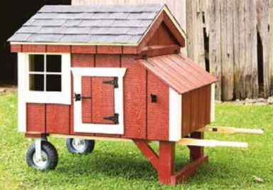 wheel barrow chicken coop