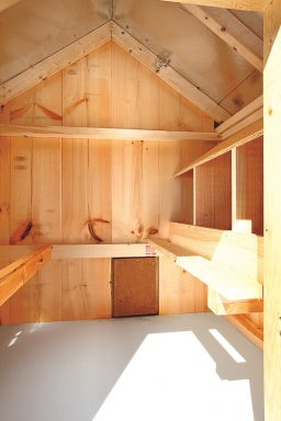 deluxe chicken coops Interior of A46