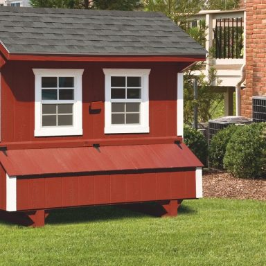 prefab chicken coops 5x8 Quaker With Duratemp