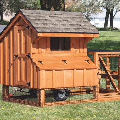 chicken coop tractor 4x4 tractor stained