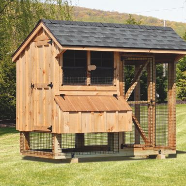 pictures of chicken coops and run 4x8 Combination