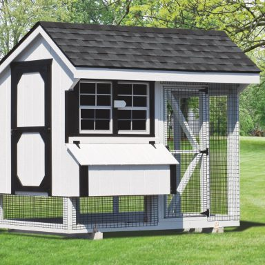 back yard chicken coops 6x8 combination