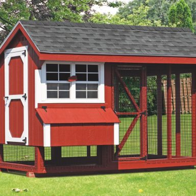 pictures of chicken coops and run 6x10 Combination 2