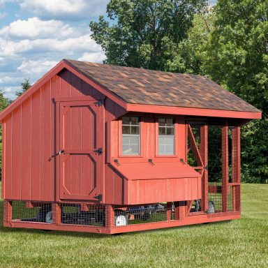 wooden chicken coops 7x12 Combination