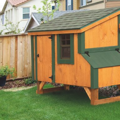 pictures of small chicken coops lean to