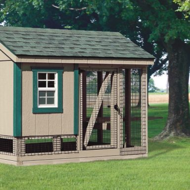 combination backyard chicken coop and run