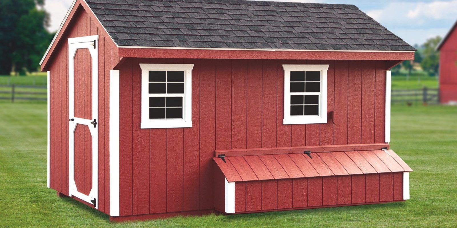 red large chicken coop for sale