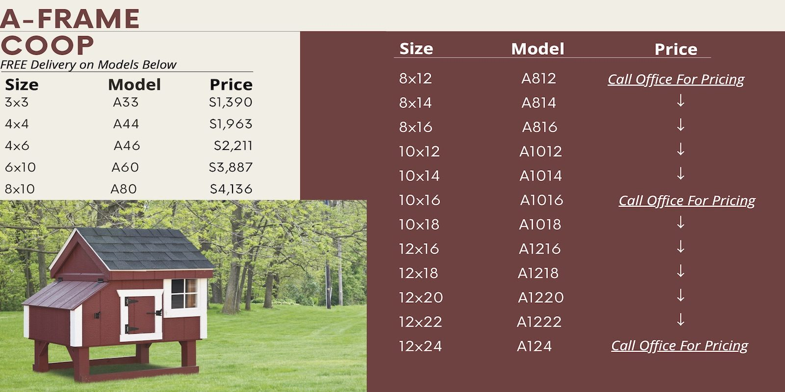 A Frame Chicken Coop Prices