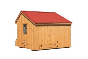 prefab chicken coops natural stain Back View