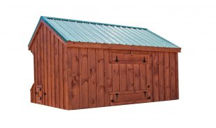 prefab chicken coops Q712 RC back
