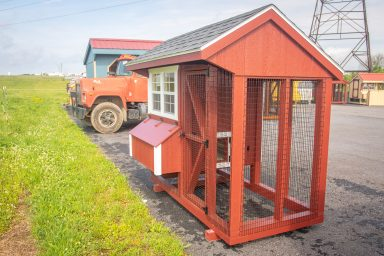 chicken coop with a run