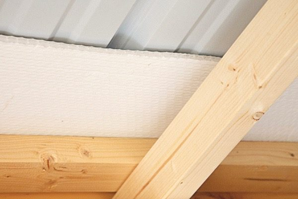 inside a chicken coop Insulated ceiling