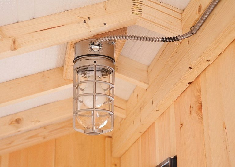inside a chicken coop Electric Package Light Installed