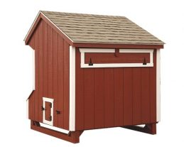 prefab chicken coops Q56 back red JH 0027