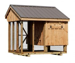 chicken coop and run Back of Q48C Natural stain