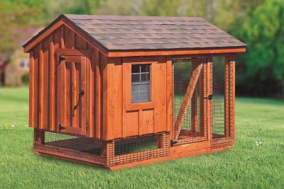 chicken coop and run 5x7 A Frame Combination