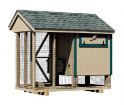chicken coop and run back of Q48C