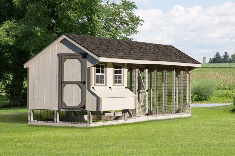chicken coop and run Q720C