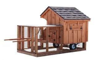 chicken coop tractor Q34T BB Stained Cedar