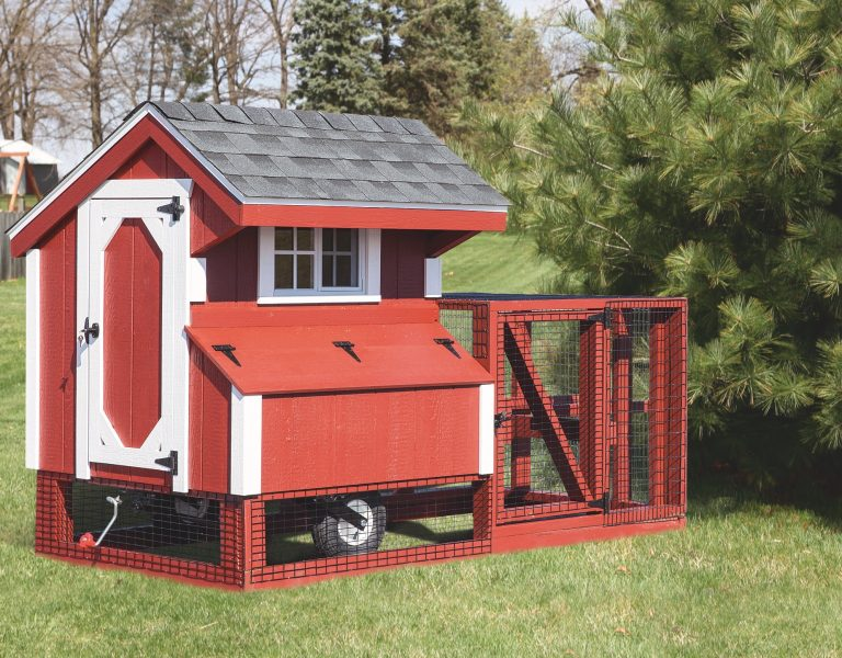 chicken coop tractor Q44T Painted Front