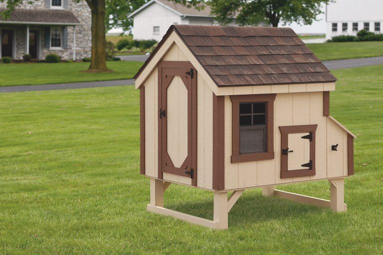 a-frame wooden chicken coop