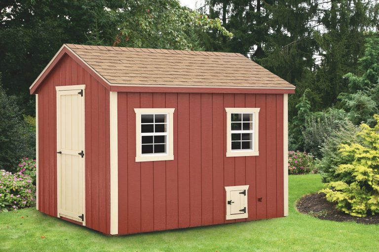 a frame chicken coop 8x10 A Frame With Duratemp® siding 1