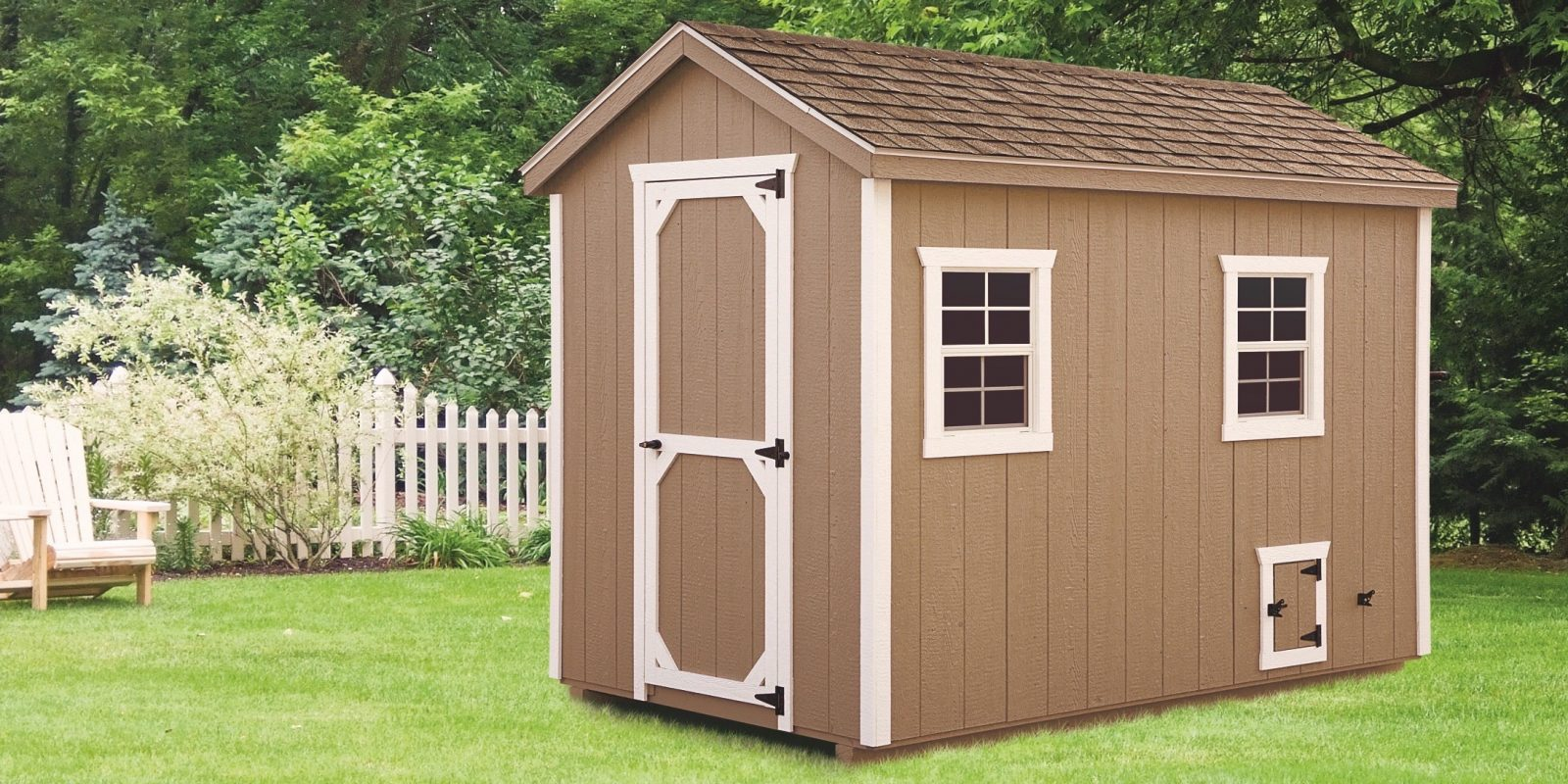 a frame chicken coop 6x10 A Frame With Duratemp® siding 1