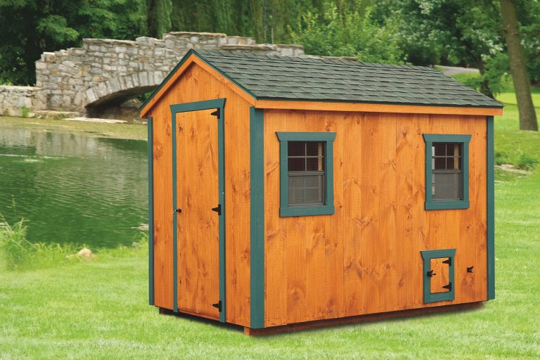 a frame chicken coop 6x10 A Frame With tongue and groove siding 1