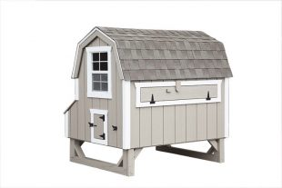 barn style chicken coops Light Gray D46 Back View