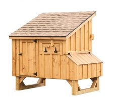 small chicken coops Natural Stain L45 Back View
