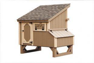 small chicken coops Clay L45 Back View