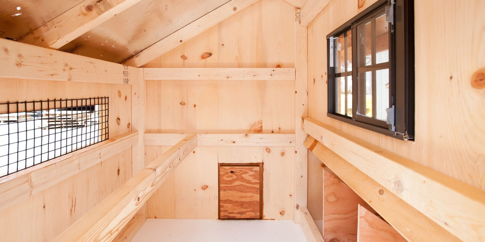 easy clean chicken coops Interior of Q34T Q44T 1