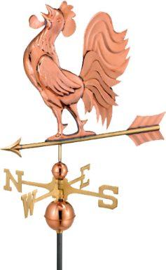 chicken coop accessories Copper Standing Rooster 1 1